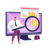 Market trends analysis vector concept metaphor