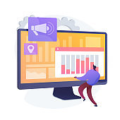 Digital marketing strategy vector concept metaphor