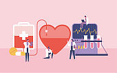 blood donation vector design concept or health research on human blood