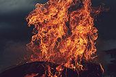 dark burning fire