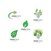 Green technology icon illustration