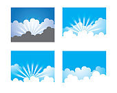 Cloud vector icon illustration design