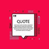 Hand drawn Speech Bubble. Marker object. Geometric design. Space for quote and text. Yellow background. Vector