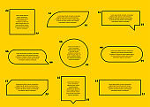 Quote collection. Quote of black colors on yellow background. Vector