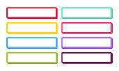Set of 3D colored web buttons. Design Templates. Vector
