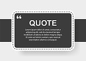 Speech Bubble. Quote text. Square object. Geometric design. Space for quote and text. White and gray background. Vector illustration.