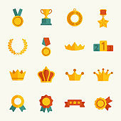 Awards vector icons