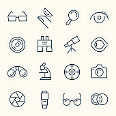 Optical line icons