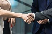 Closeup shot of business handshake