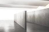 Modern concrete exhibition hall