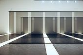 Modern white futuristic gallery