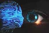 Futuristic cyber eye