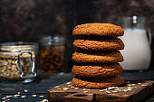 fresh oatmeal cookies and baking products