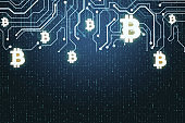 Bitcoin and cryptocurrency concept