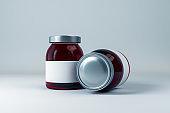 Blank label two brown jar