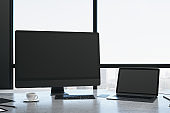 Modern coworking office room