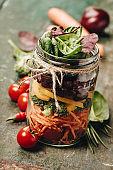 Healthy Homemade Mason Jar Salad, healthy food