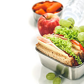 Lunch box with food ready to go