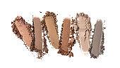 Broken color set eyeshadow as sample of cosmetic beauty product