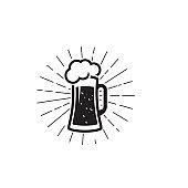 Beer craft vector illustration design