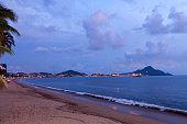 Ocean landscape in mexico beach.