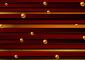 Red stripes and bronze beads abstract tech background