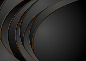 Black and golden corporate waves abstract background