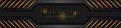 Black and golden abstract technical banner design