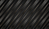 Abstract black bronze stripes and lines corporate background