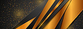 Bronze and black abstract background with glitter dust