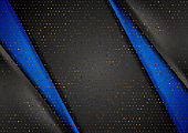 Blue black corporate background with golden dots