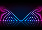 Blue ultraviolet neon laser rays technology modern background