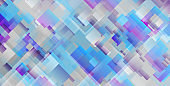Grey blue violet squares abstract geometric background