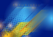 Grunge blue yellow geometric abstract background