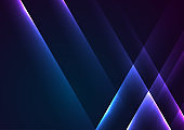 Blue purple shiny glowing abstract background