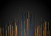 Bronze and black lines abstract tech background