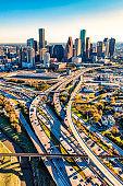 Freeways Leading into Downtown Houston