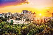 Parthenon, Acropolis of Athens at sunrise