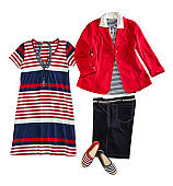 Marine style women's clothing  and personal accessories