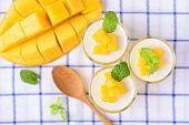 Mango pudding, Thai dessert