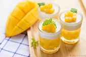 Thai dessert mango pudding