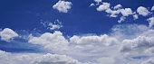 Blue sky with cumulus clouds in a day