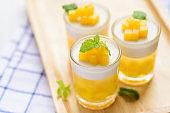 Thai dessert, mango pudding