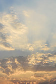 Beautiful vanilla sky with clouds before sunset
