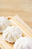 Steamed buns stuffed with minced pork