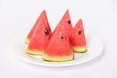 Sliced watermelon fruit