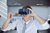 Stock Trader Using Virtual Reality Headset.