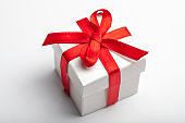 Gift box on white
