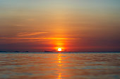 Beautiful sunset above the sea. Summer vacation concept. Thailand