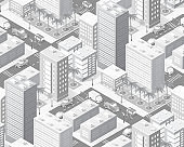 Isometric city map industry infographic set, with transport